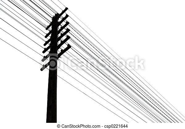 alambres, telégrafo - csp0221644