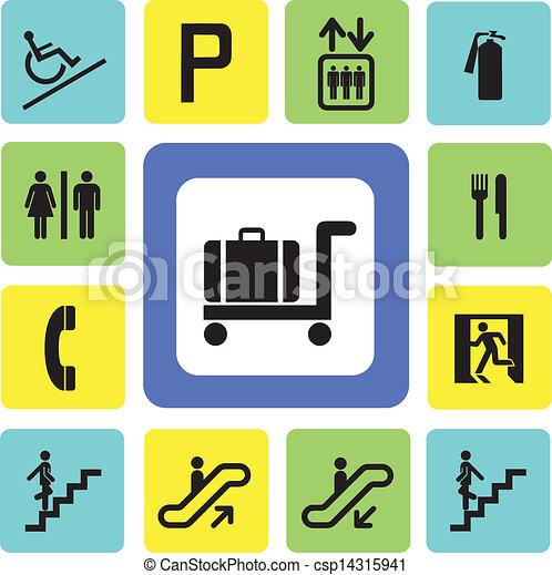 Comprando iconos - csp14315941