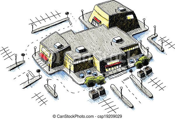 Centro comercial - csp19209029