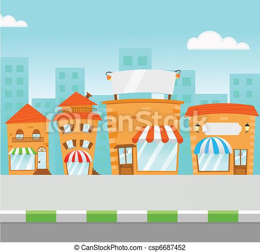 Al centro comercial - csp6687452