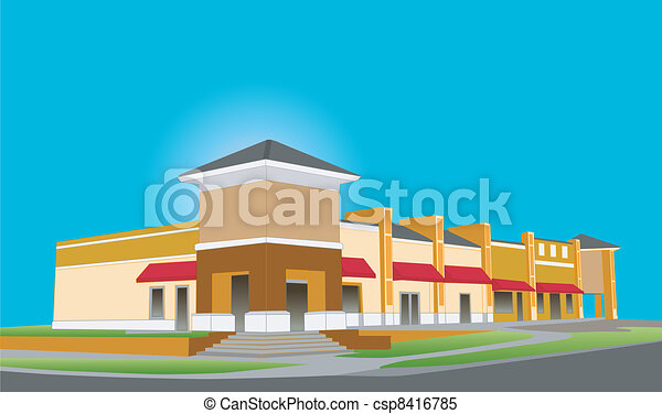 Un centro comercial de lujo - csp8416785