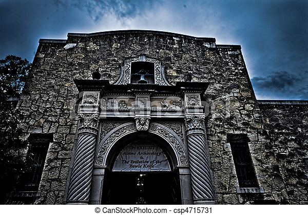 alamo, 歴史的, san, テキサス, antonio - csp4715731