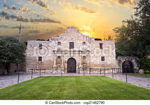 El Álamo, San Antonio, TX - csp21462790