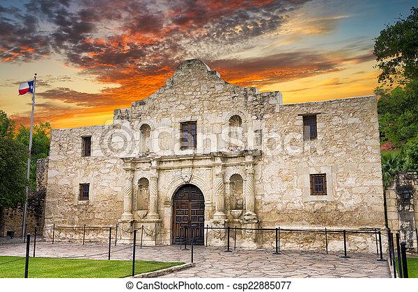 El Álamo, San Antonio, TX - csp22885077