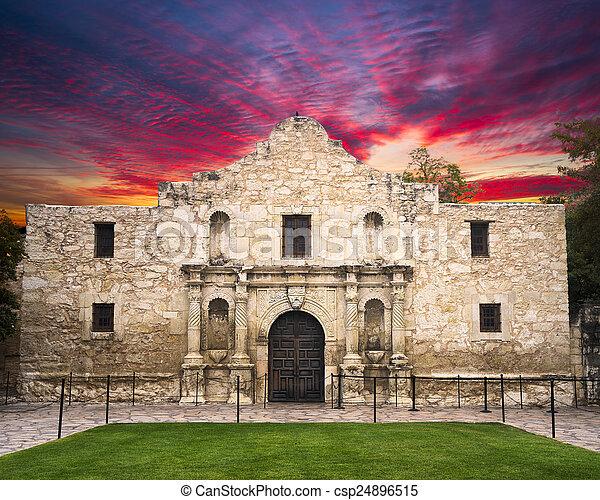 El Álamo, San Antonio, TX - csp24896515