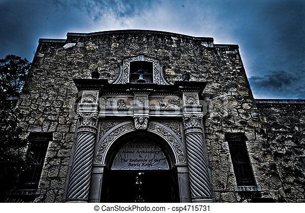 alamo, dějinný, san, texas, antonio - csp4715731
