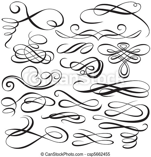 alapismeretek, calligraphic - csp5662455