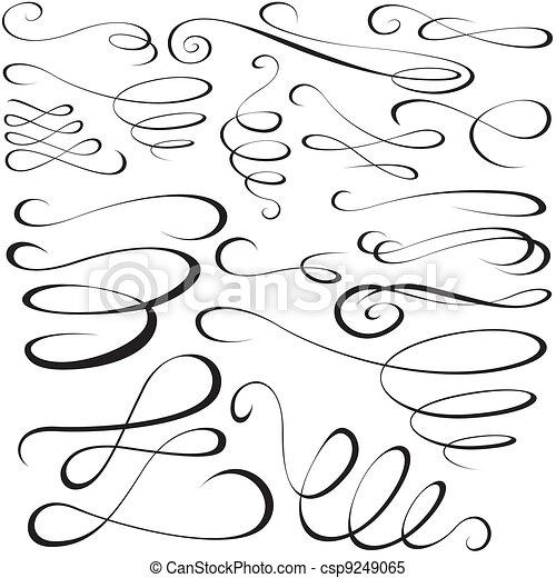 alapismeretek, calligraphic - csp9249065