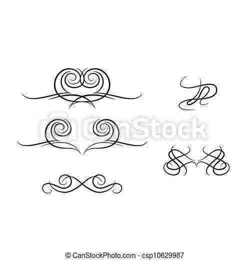 alapismeretek, calligraphic - csp10629987