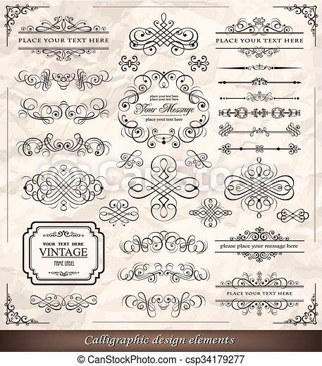 alapismeretek, calligraphic - csp34179277