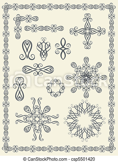 alapismeretek, calligraphic - csp5501420