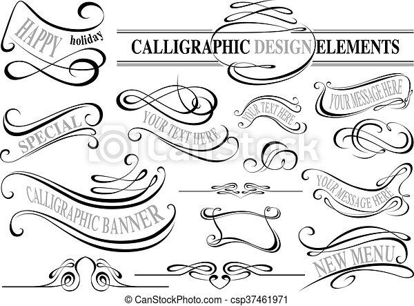 alapismeretek, gyűjtés, calligraphic - csp37461971