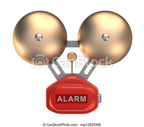 Alarm bell ringer. Isolated - csp12524366