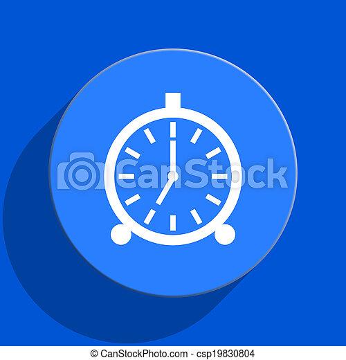 alarm blue web flat icon - csp19830804