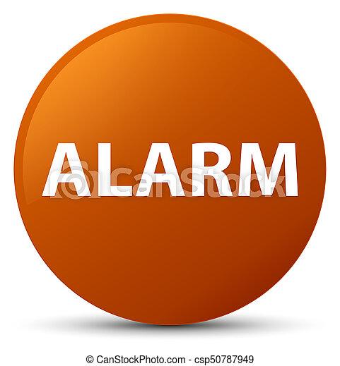 Alarm brown round button - csp50787949