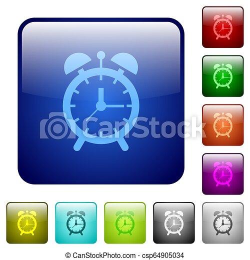 Alarm clock color square buttons - csp64905034