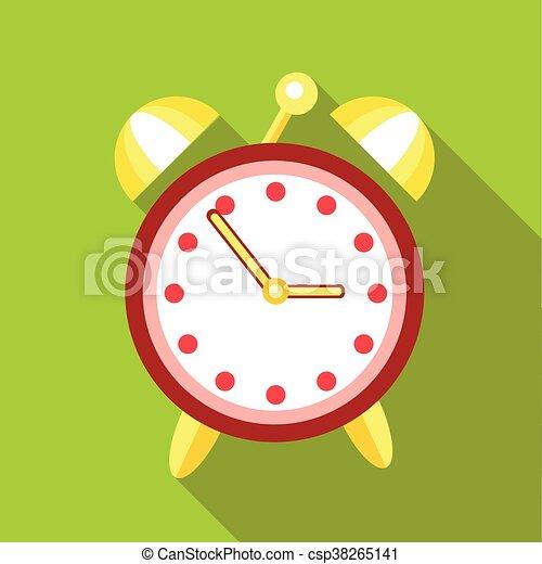 Alarm clock icon, flat style - csp38265141