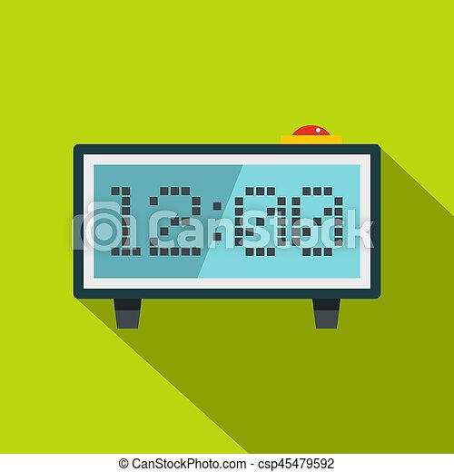 Alarm clock icon, flat style - csp45479592