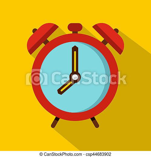 Alarm clock icon, flat style - csp44683902