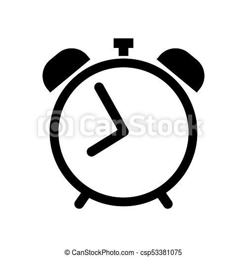 Alarm clock icon in black