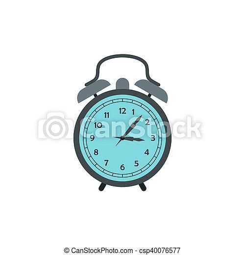 Alarm clock icon in flat style - csp40076577