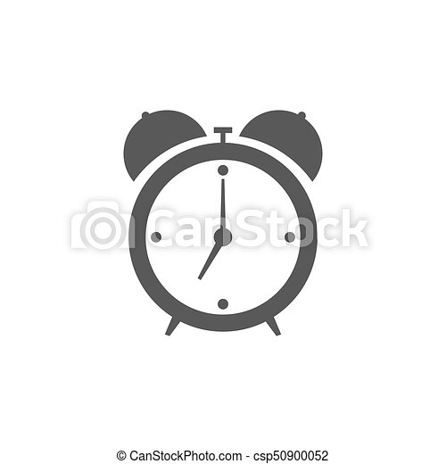 Alarm clock icon isolated on white background - csp50900052