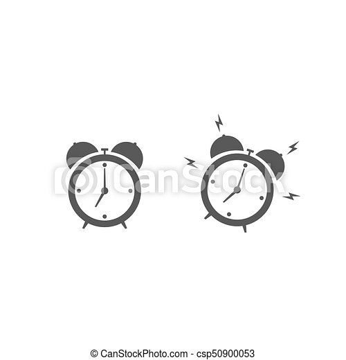 Alarm clock icon isolated on white background - csp50900053