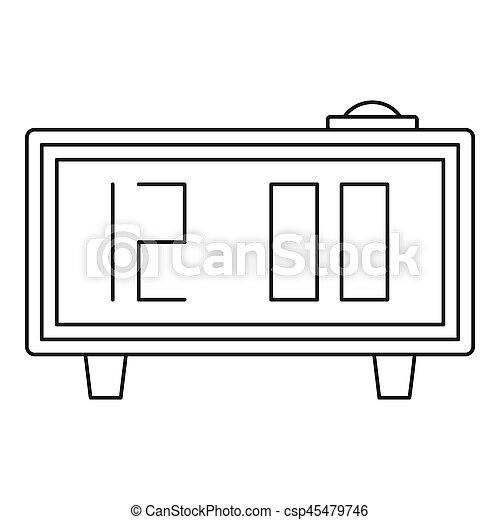 Alarm clock icon, outline style - csp45479746