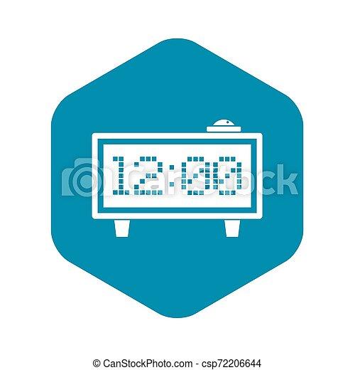 Alarm clock icon, simple style - csp72206644
