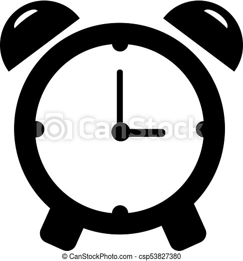 Alarm clock icon  Single high quality outline symbol of time for web design  or mobile app  Thin line signs of timer for design logo, visit card, etc