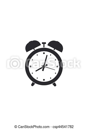 Alarm clock isolated on white background. Vector illustration - csp44541782
