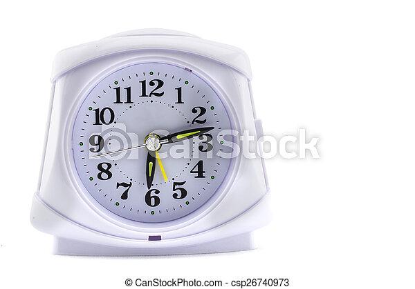 alarm clock on white background - csp26740973