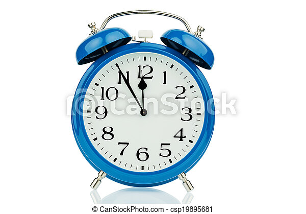 alarm clock on white background - csp19895681