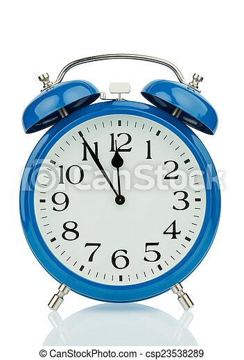 alarm clock on white background - csp23538289