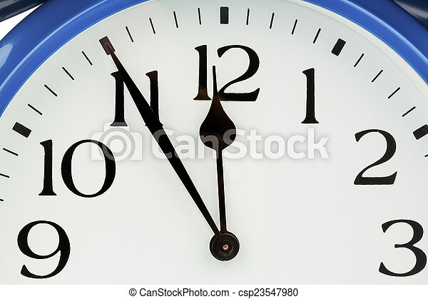 alarm clock on white background - csp23547980