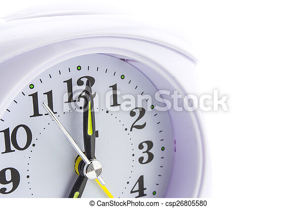 alarm clock on white background - csp26805580