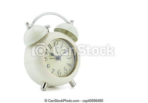 alarm clock on white background - csp40899485