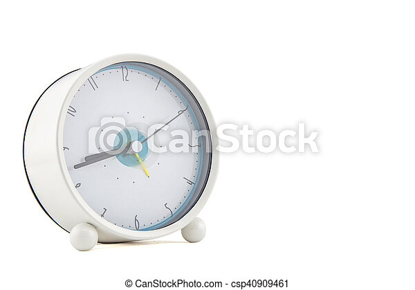 alarm clock on white background - csp40909461