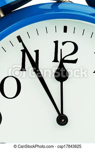alarm clock on white background - csp17843625