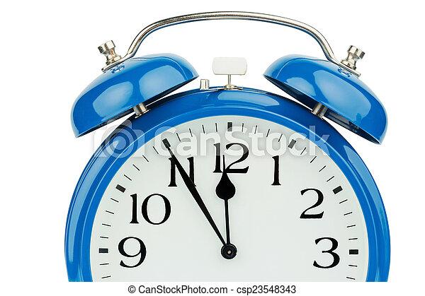 alarm clock on white background - csp23548343