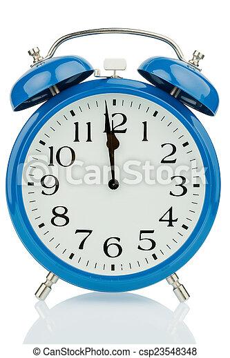 alarm clock on white background - csp23548348