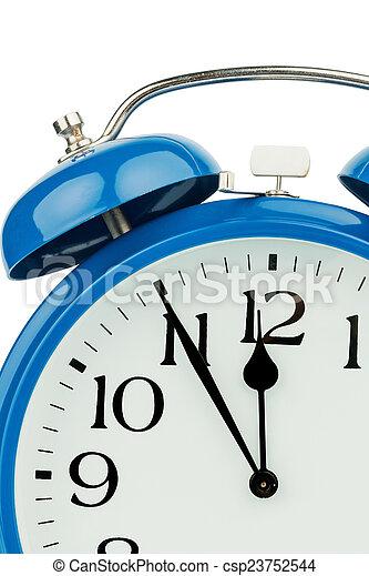 alarm clock on white background - csp23752544