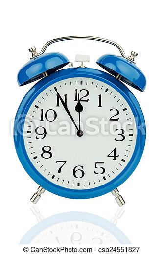 alarm clock on white background - csp24551827