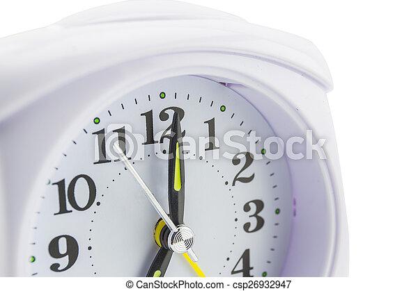 alarm clock on white background - csp26932947