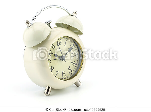 alarm clock on white background - csp40899525