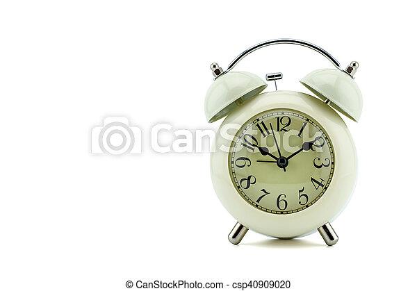alarm clock on white background - csp40909020