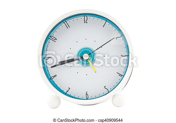 alarm clock on white background - csp40909544