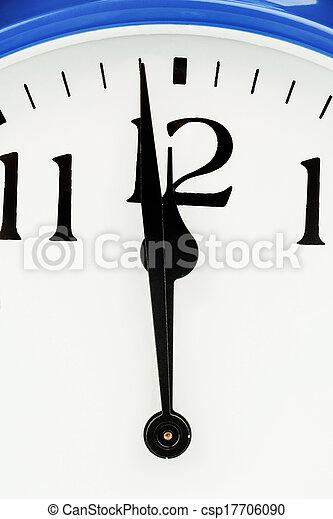 alarm clock on white background - csp17706090