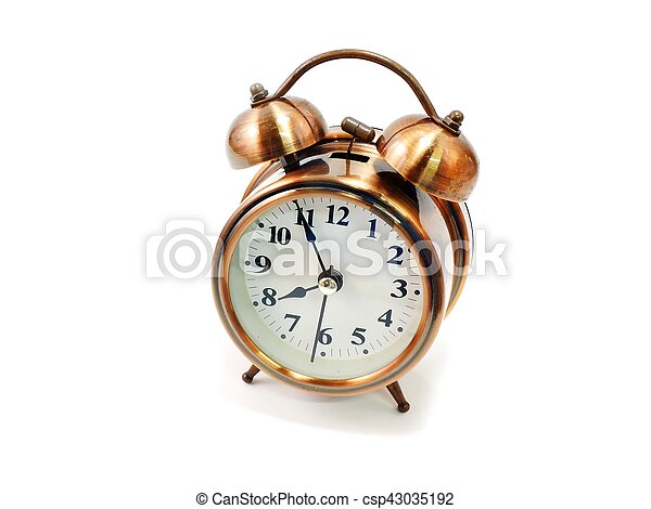 alarm clock on white background - csp43035192