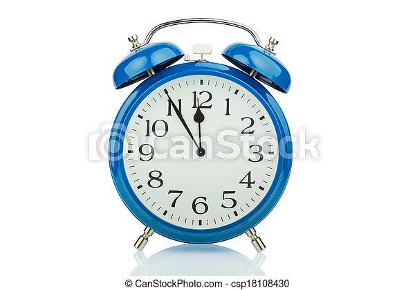 alarm clock on white background - csp18108430